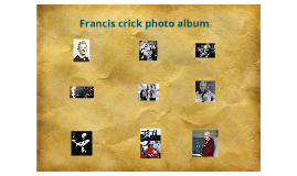 Francis crick portrait album
