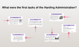 What were the first tasks of the Harding Administration? by ...