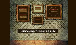 Class Meeting: November 30, 2015
