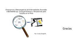 Copy of Emergencia de EIDs asociadas a Bartonella spp: Enfoque holistico