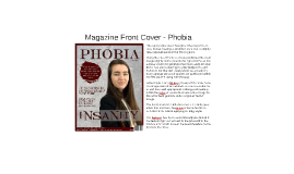 Magazine Front Cover - Phobia