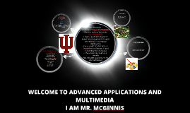 WELCOME TO ADVANCED APPLICATIONS AND MULTIMEDIA