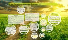 3, Sociologiska och psykologiska perspektiv