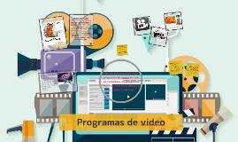 Programas de video