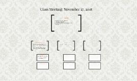 Class Meeting: November 28, 2016