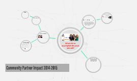 Community Partner Team Impact 2014-2015