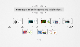 First use of Scientific terms and Publications