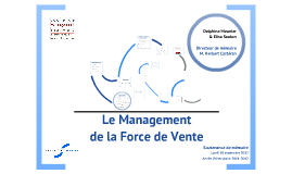 Copy of Le Management de la Force de Vente