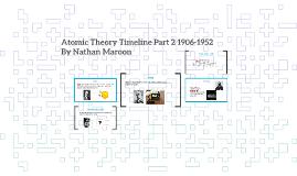 Atomic Theory Timeline 1906-1952