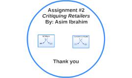 Critiquing Retailers
