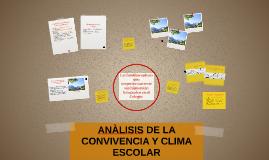 ANALISIS DE LA CONVIVENCIA Y CLIMA ESCOLAR