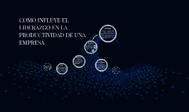 Copy of COMO INFLUYE EL LIDERAZGO EN LA PRODUCTIVIDAD DE UNA EMPRESA