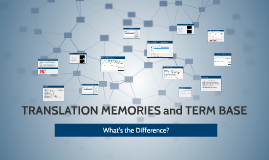 TRANSLATION MEMORIES and GLOSSARIES