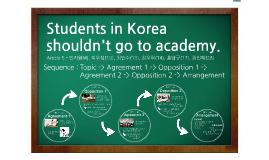 Students in Korea shouldn't go to academy.