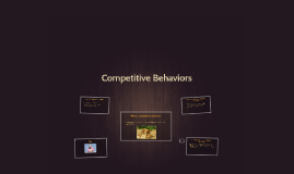 Competitive Behaviors