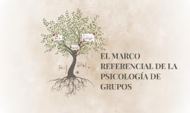 Copy of EL MARCO REFERENCIAL DE LA PSICOLOGÍA DE GRUPOS