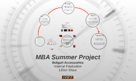 MBA Summer Project - Più Alta