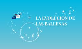 LA EVOLUCION DE LAS BALLENAS
