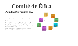 Comité de Ética / Plan de Trabajo Anual 2014