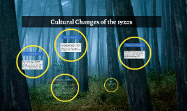 Cultural Changes of the 1920s