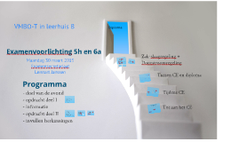 Examenvoorlichting havo-vwo 30-03-2015
