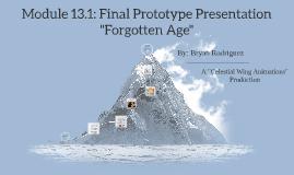 Module 13.1: Final Prototype Presentation