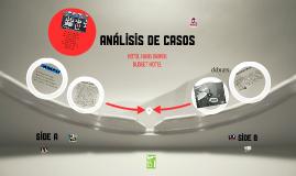 ANALISIS DE CASOS HOTELEROS