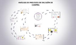 ANÁLISIS DE PROCESOS DE DECISIÓN DE COMPRA