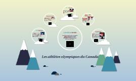Les athletes olympiques du Canada