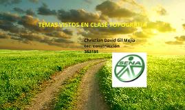 TEMAS VISTOS EN CLASE DE TOPGRAFIA