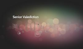 Senior Valediction