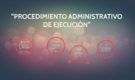Copy of Copy of PROCEDIMIENTO ADMINISTRATIVO DE EJECUCIÓN