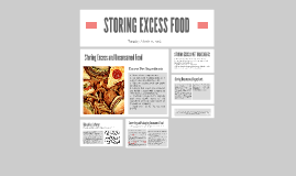 Copy of STORING EXCESS FOOD
