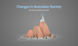 Changes in Austrlian Society