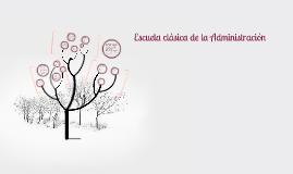 Copy of Escuela clasica de la Administracion