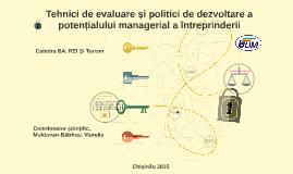 Tehnici de evaluare și politici de dezvoltare a potențialulu