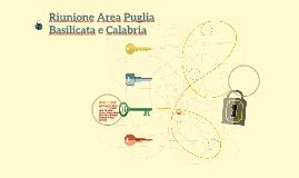 Riunione Area Puglia Basilicata e Calabria