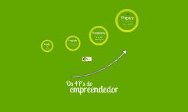 Os 4 P's do Empreendedor