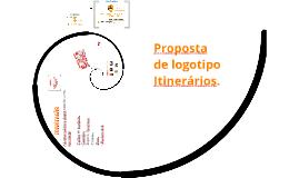 Proposta de logotipo Itinerários