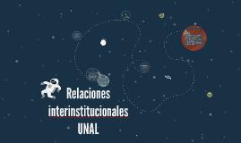 Relaciones interinstitucionales UNAL