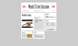 Week 3 Live Session