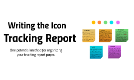 Icon Tracking Report