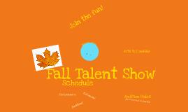 Fall Talent Show
