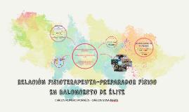 LA RELACIÓN FISIOTERAPEUTA-PREPARADOR FÍSICO EN BALONCESTO D