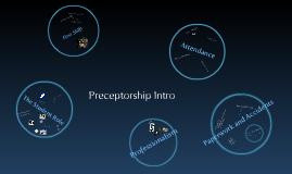 Preceptorship talk
