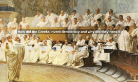 the state of democracy in ancient greece Our investigation focuses on the poleis (city-states) of ancient greece and  explores why the path to democracy need not be monotonic nearly everyone is.