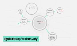 "Digital Citizenship ""Hurricane Sandy"""