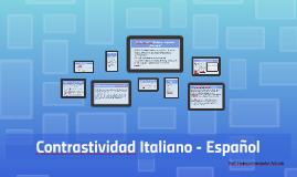 Contrastividad Italiano - Español: