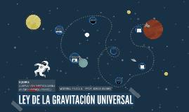 Ley de la gravitación