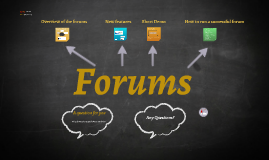 How to use WebLearn Forums